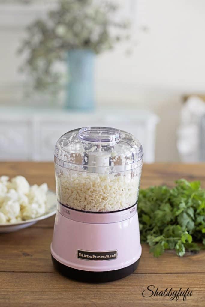 pink kitchenaid food chopper