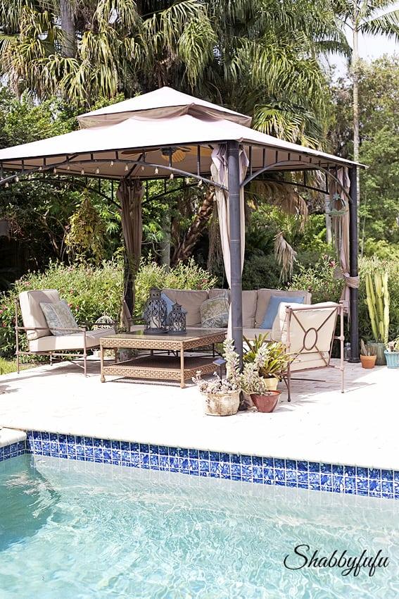 pool entertaining gazebo