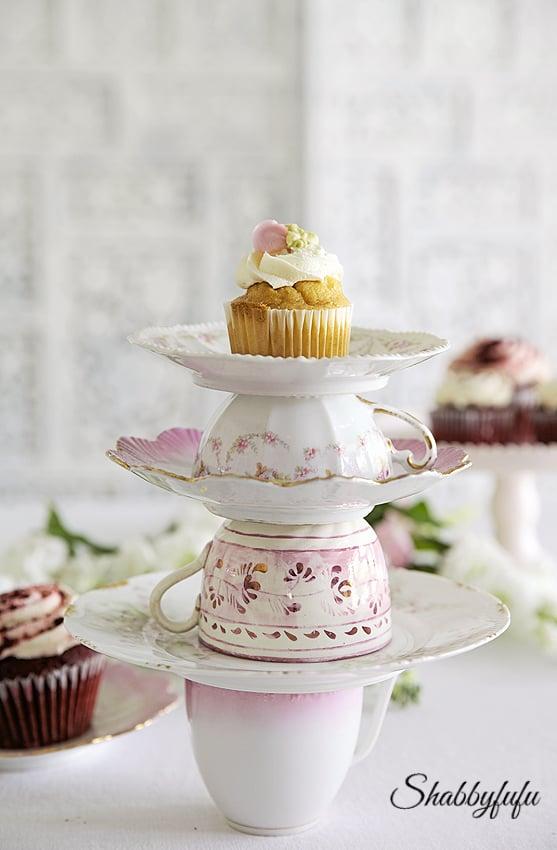 teacup cupcake stand