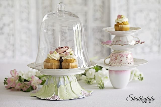 beautiful diy cupcake stand