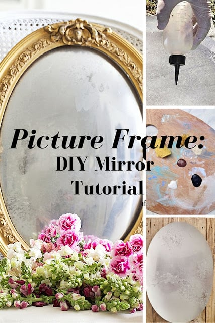 picture frame to mirror tutorial