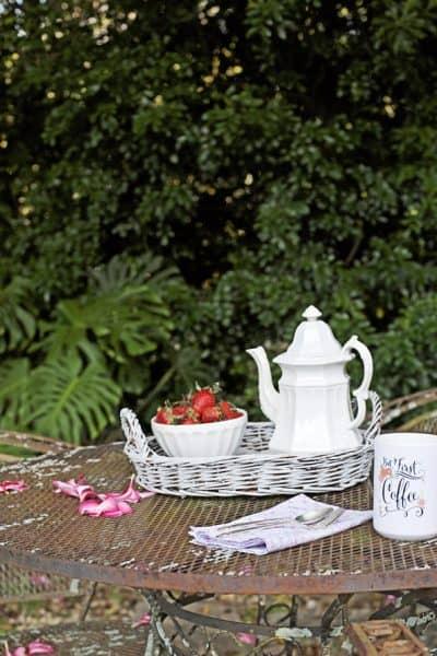 Simple Summer Salad In The Garden