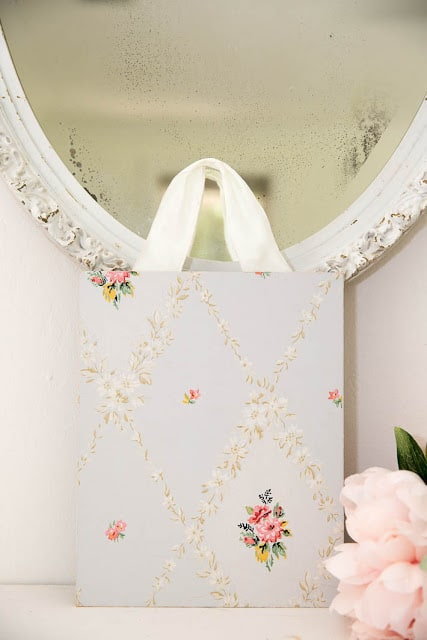 vintage wallpaper crafts diy