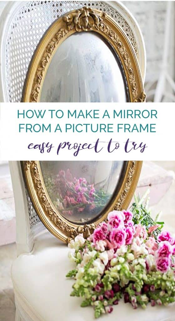 how to make a mirror from a picture frame