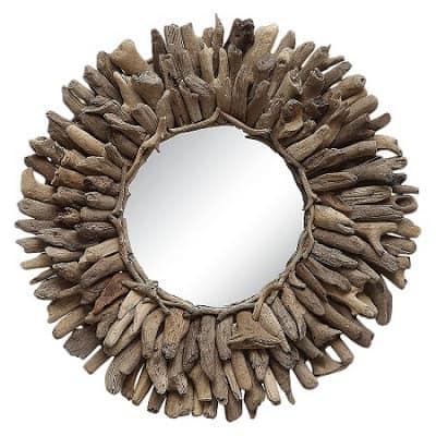 best round driftwood mirror