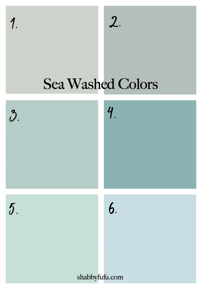 sea washed paint colors coastal style decor