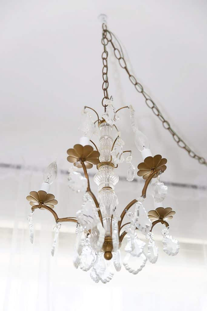 antique french chandelier with crystals