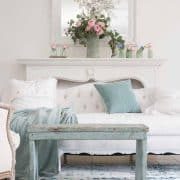 Seafoam Green In A Coastal Style Living Room