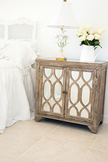 mirrored driftwood-nightstand