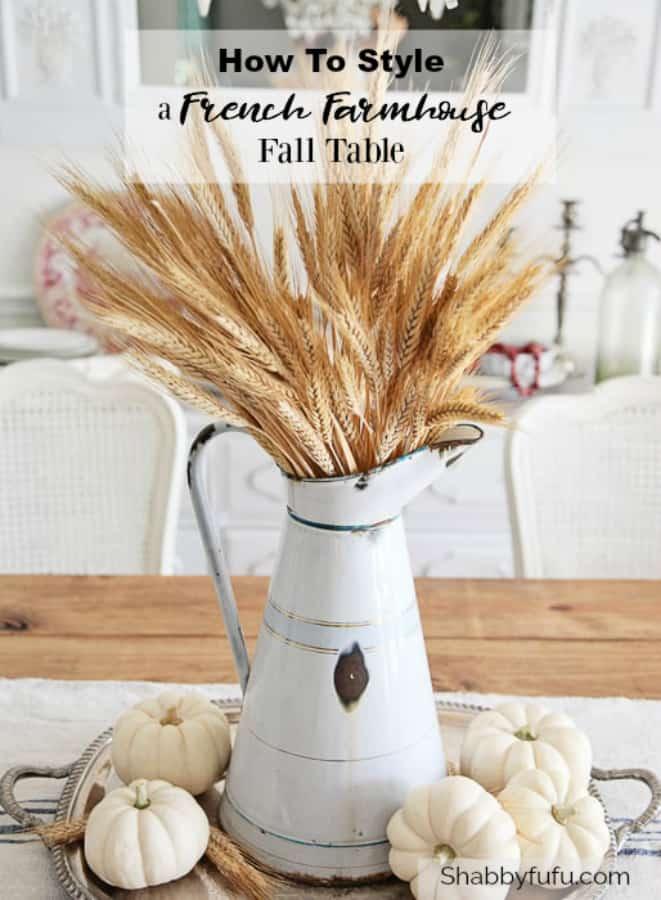 french farmhouse fall table
