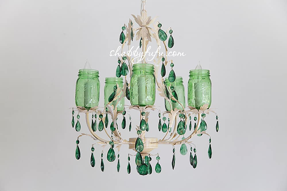 How to make a farmhouse mason jar chandelier shabbyfufu this is similar to what we will be making for a client who has a farmhouse style home and she requested clear jars for hers there are lots of chandeliers aloadofball Gallery