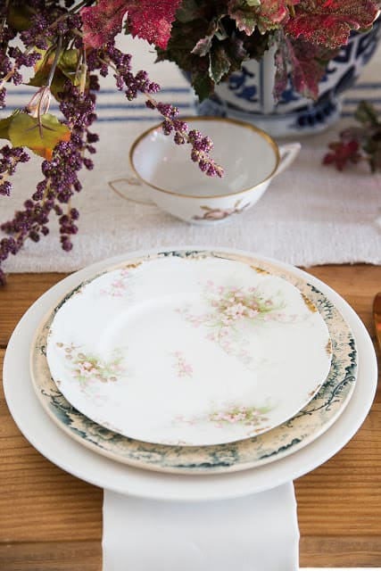 how to layer plates ironstone limoges white plates
