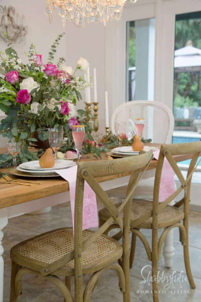 French country dining room party