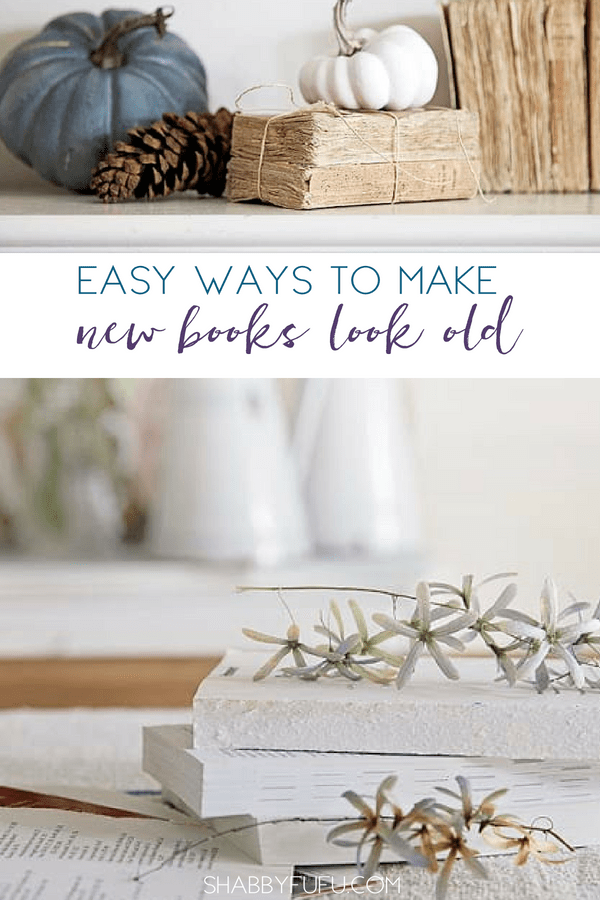 how to make new books look old