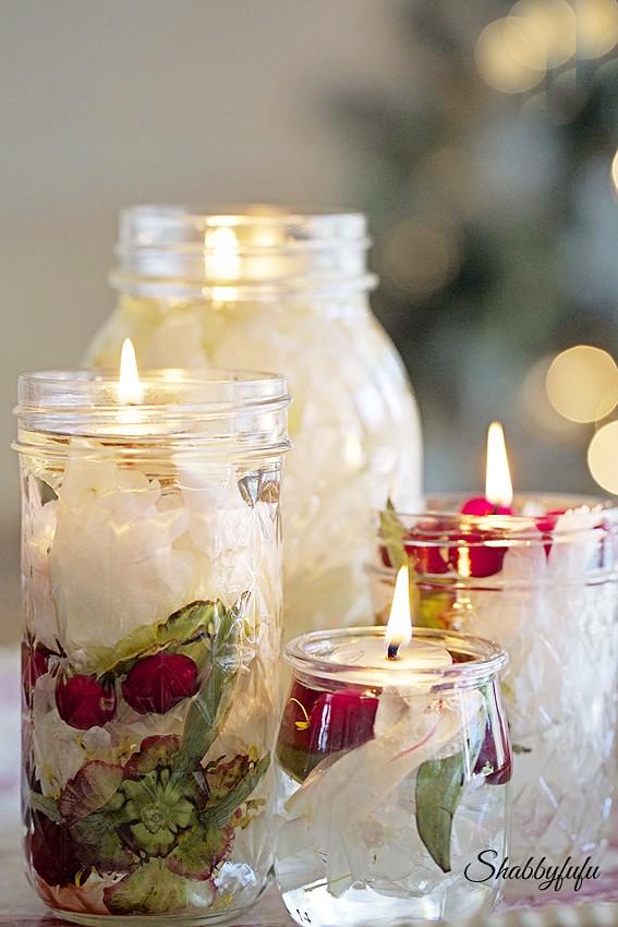 oil lantern candles diy