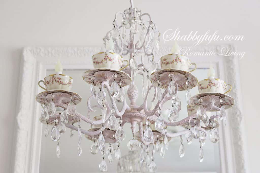 tea cup chandelier ideas