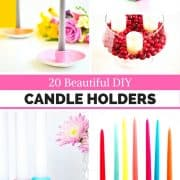 20 Beautiful DIY Candleholders – Round Up