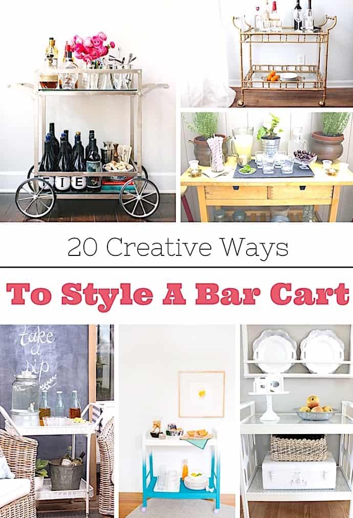 20 Creative Ways To Style A Bar Cart