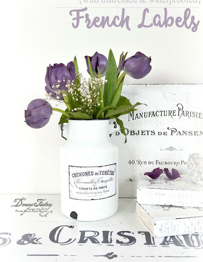 Modern style French country decor with labels from the graphics fairy