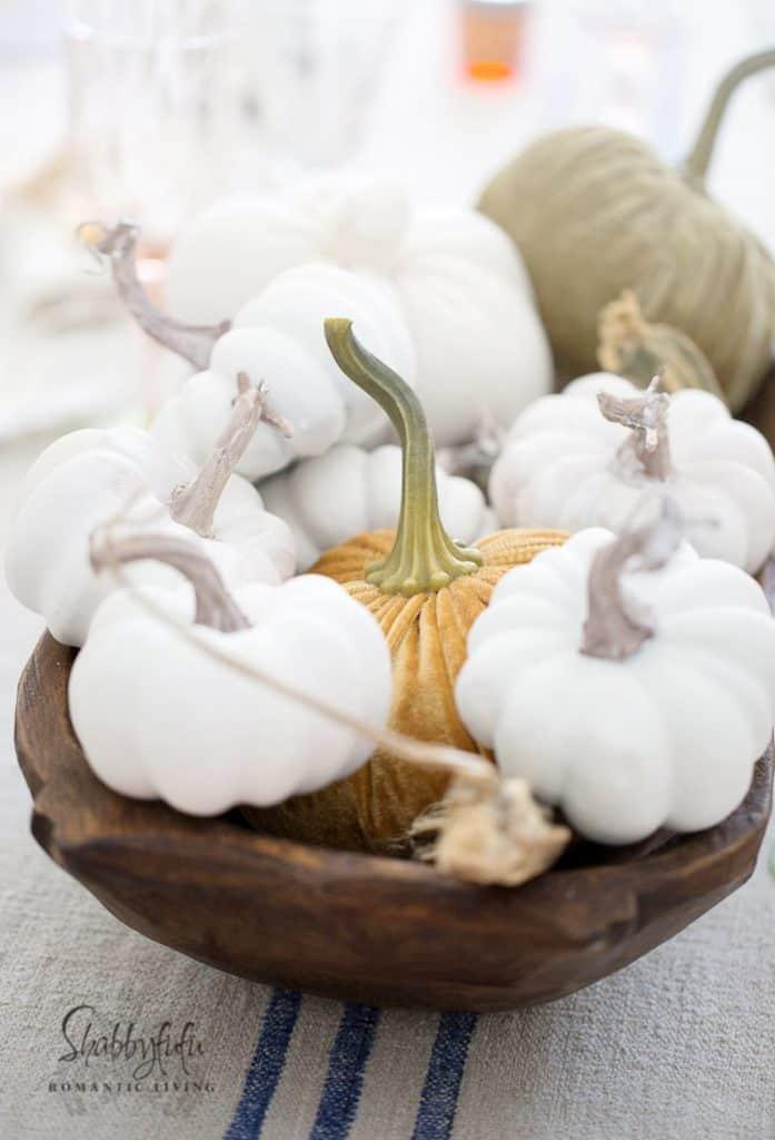 dough bowl with pumpkins