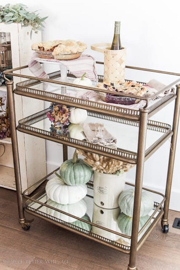 style a bar cart for the fall