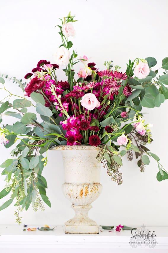 floral arrangement pedestal urn