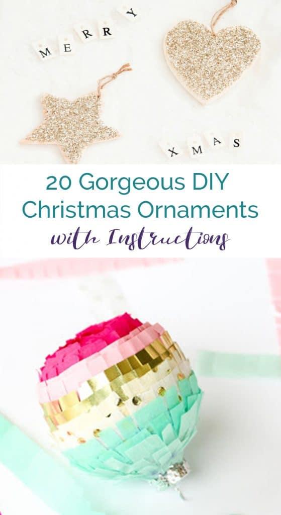20 Gorgeous DIY Christmas Ornaments