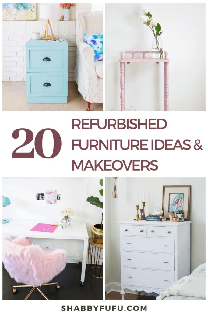 20 Refurbished Furniture Ideas And Makeovers Shabbyfufu Com