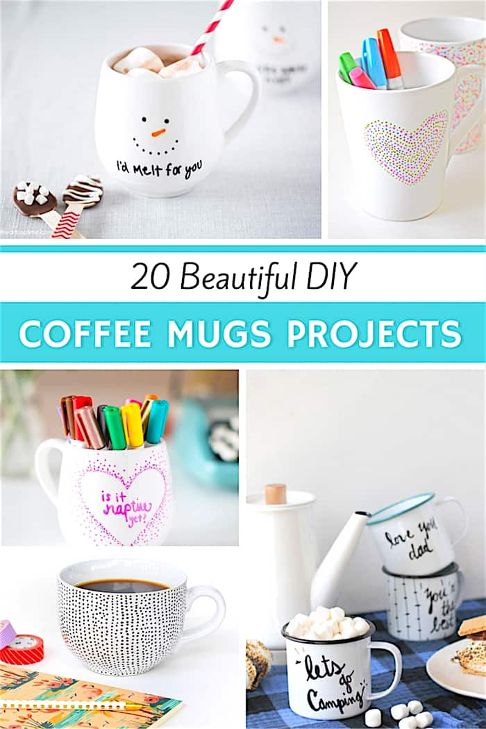 20 Beautiful DIY Coffee Mug Projects