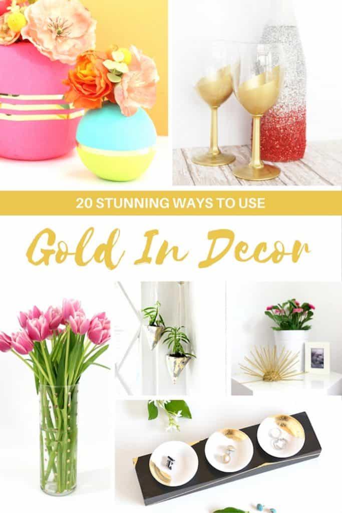 20 Stunning Ways To Use Gold In Decorating shabbyfufublog