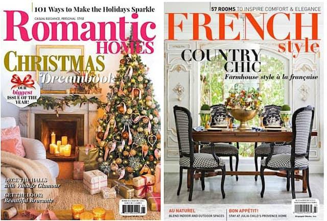 engaged media romantic homes christmas magazine french country style magazine
