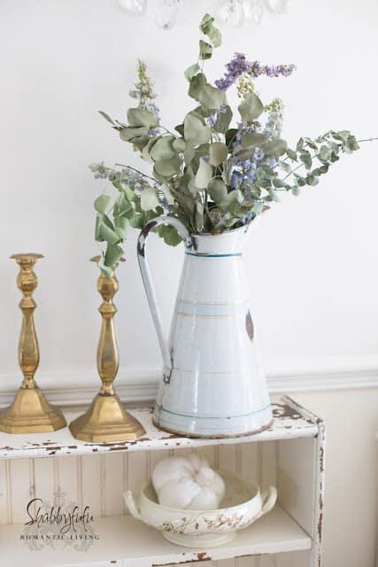 french enamel pitcher farmhouse