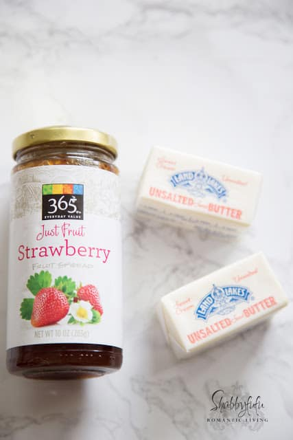 making strawberry butter