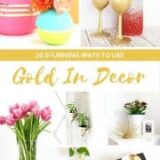 20 Stunning Ways To Use Gold In Decorating