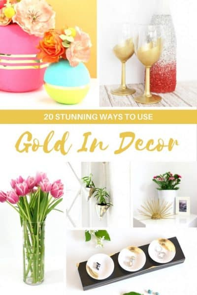 gold decorating ideas modern home style