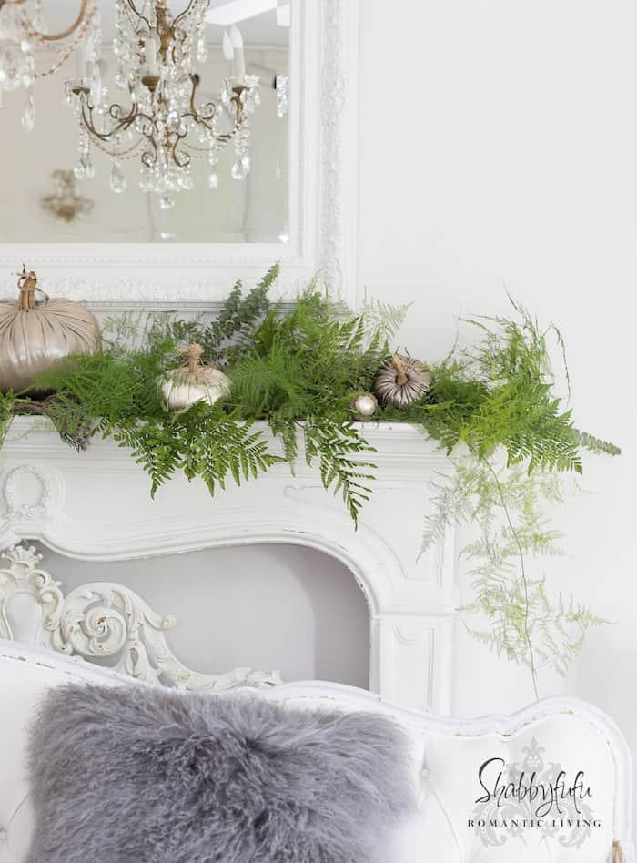 shabbyfufu elegant mantel for the holidays
