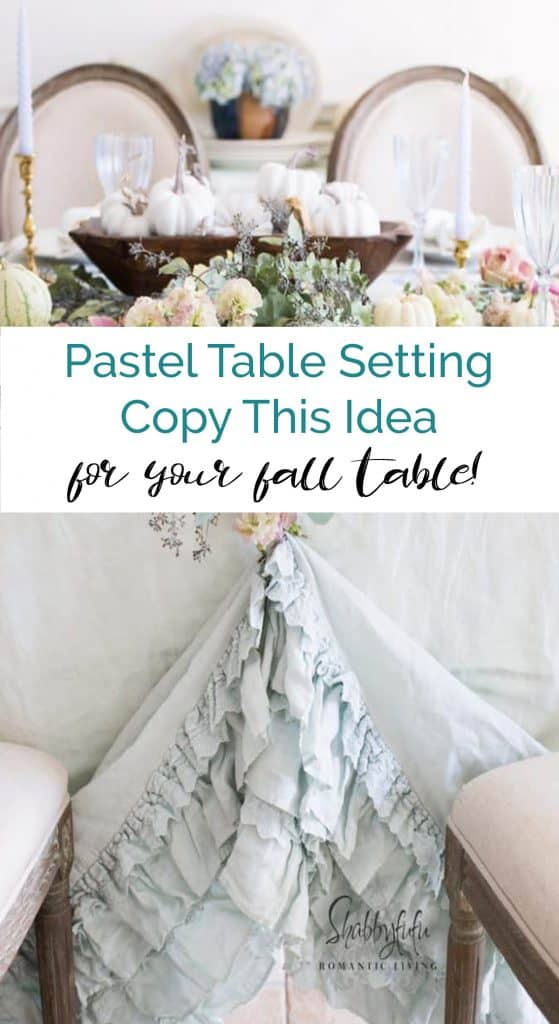 pastel table setting ideas for fall