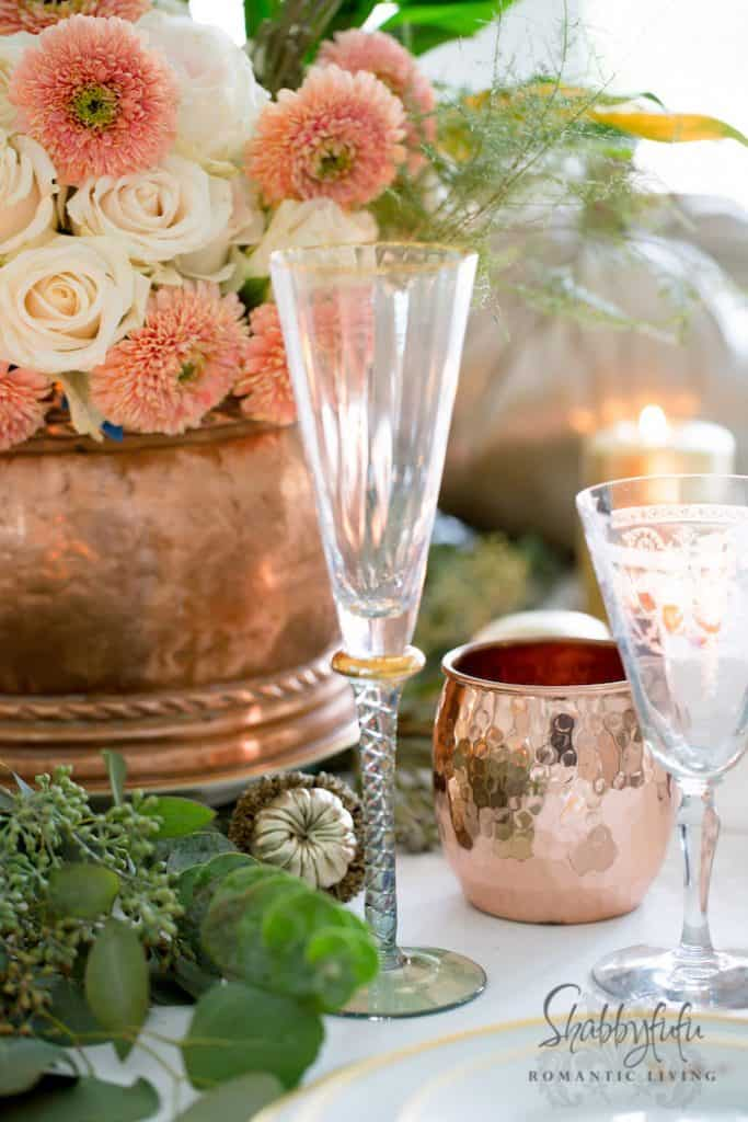 Thanksgiving Table Setting - Decor and Centerpiece-shabbyfufublog