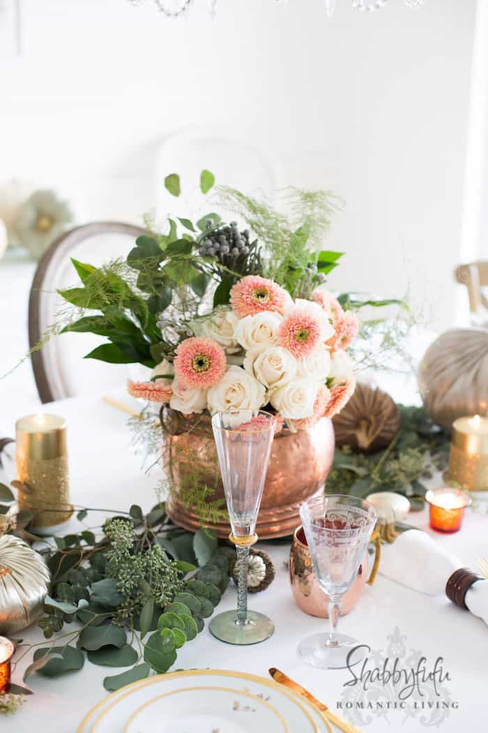 Metallics In Fall Table Settings – Copper And Gold