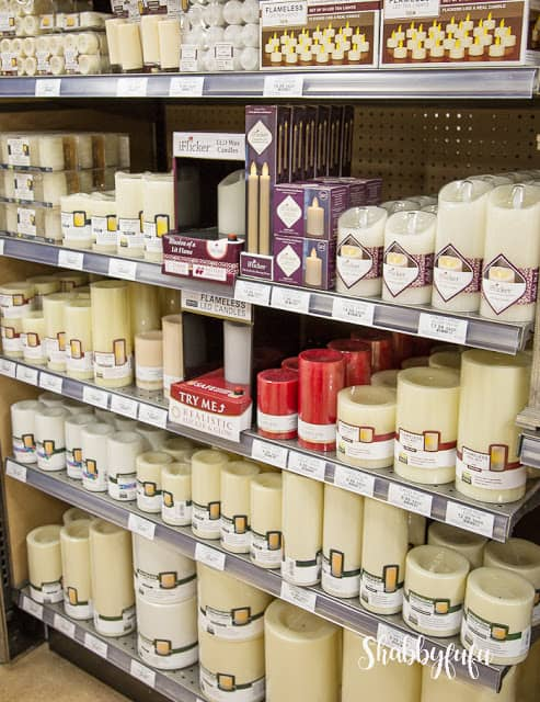 shelf of candles