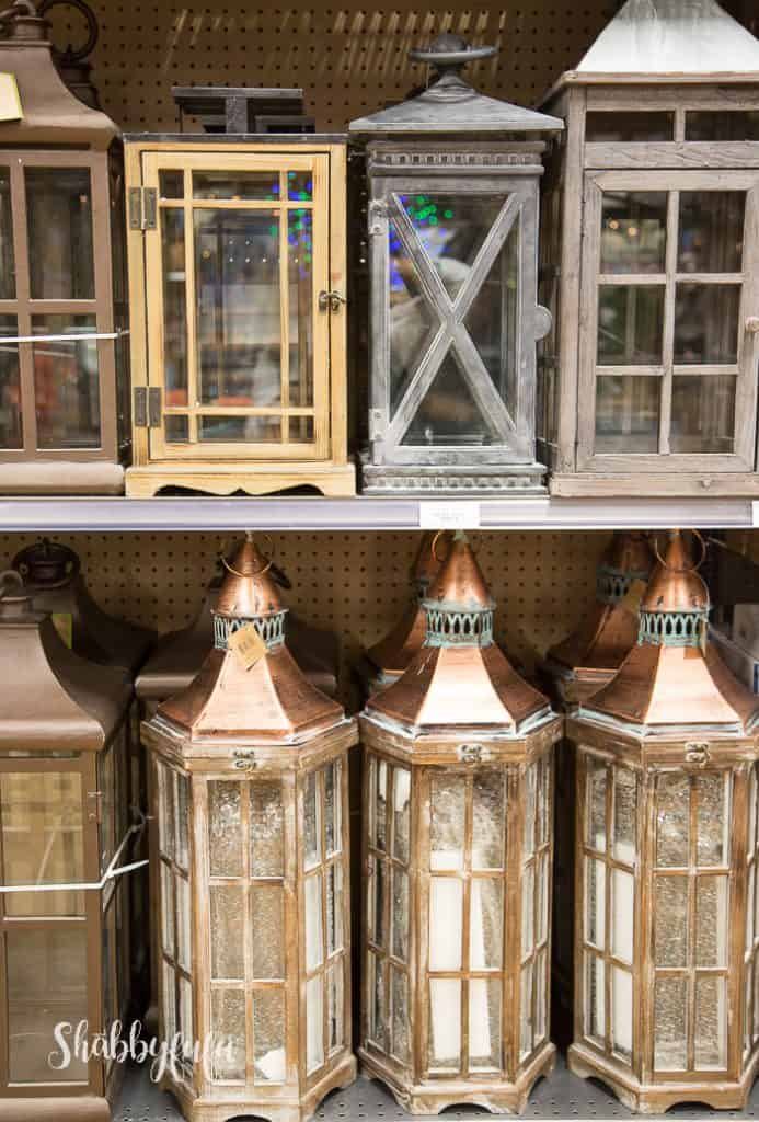 lanterns in wood copper lanterns