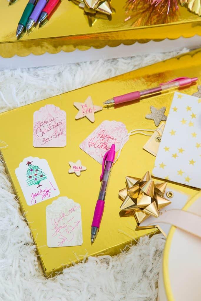 home made christmas gift tags