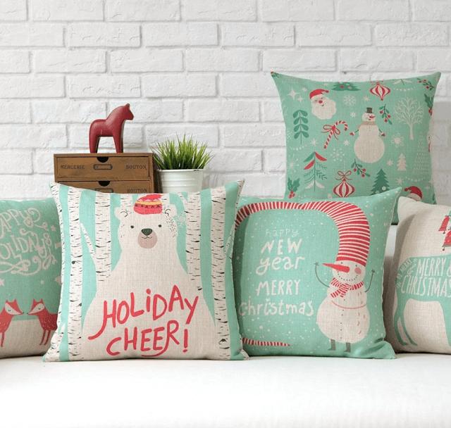 mint-green-christmas-pillows