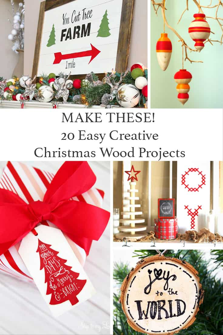 How To Make Gorgeous And Frugal Christmas Wood Projects Shabbyfufu Com