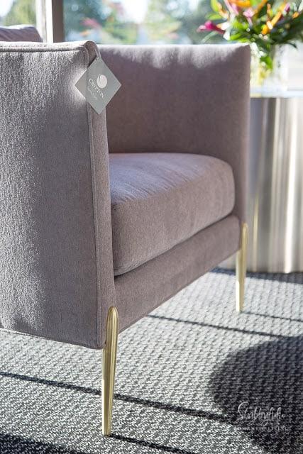 mid century modern chair gold legs