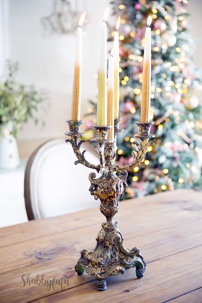 Learn How To Gold Leaf A Thrift Store Candelabra