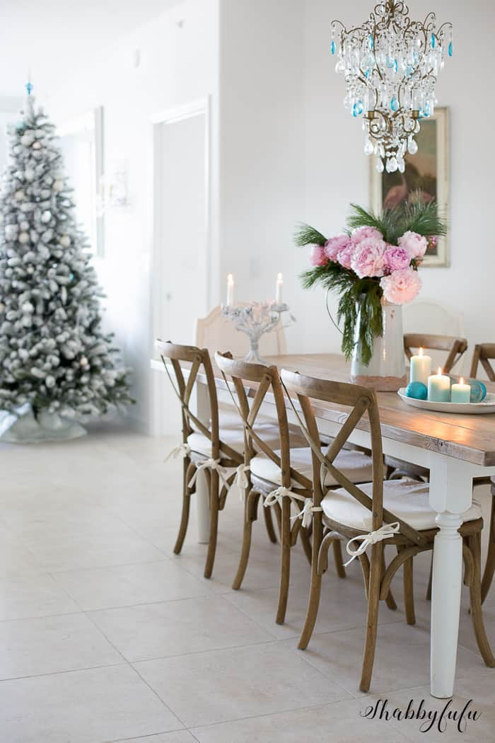 A Remarkable Gift Of Christmas – A Flocked Tree
