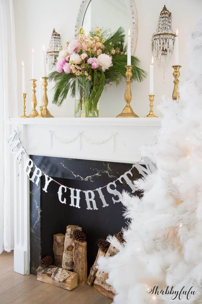merry christmas glitter banner