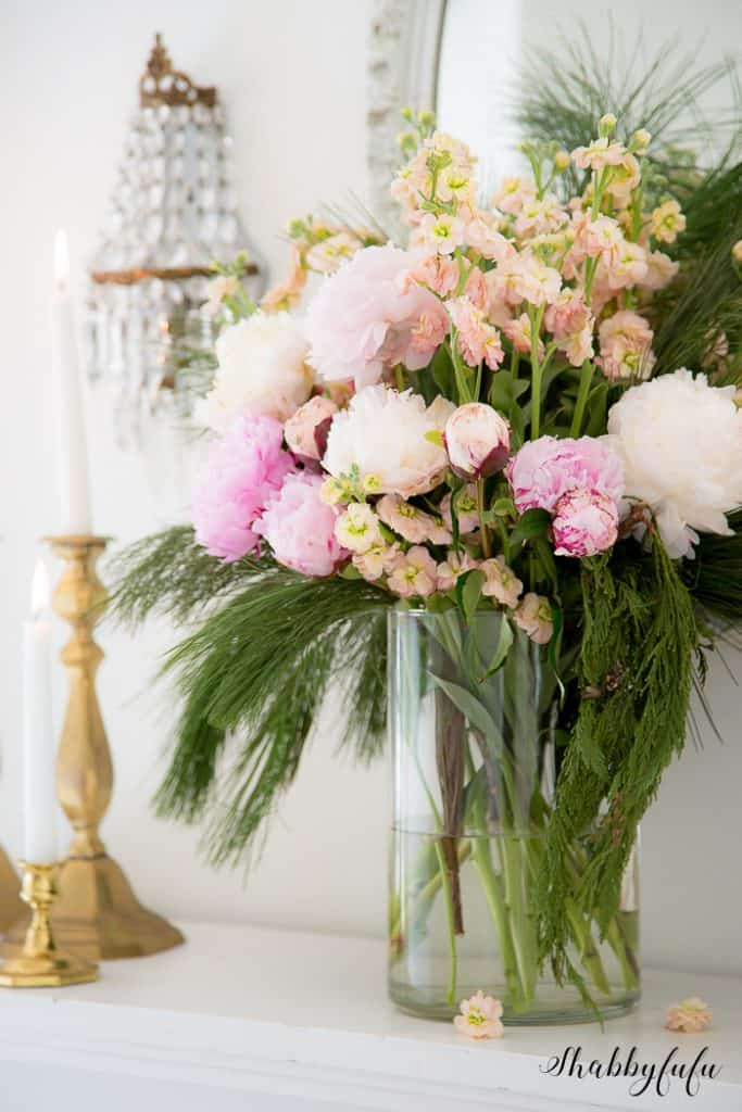 peonies in flower arranging