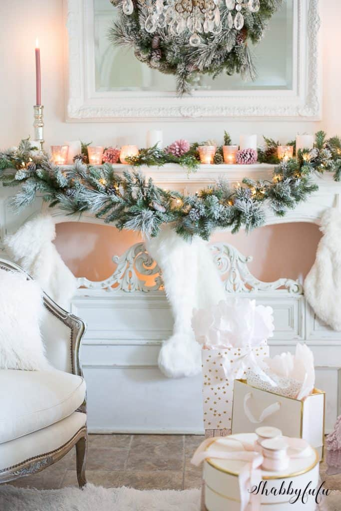 beautiful christmas mantel ideas blush pink christmas - Blush Christmas Decorations